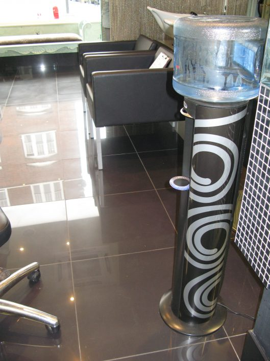 branded water dispenser.