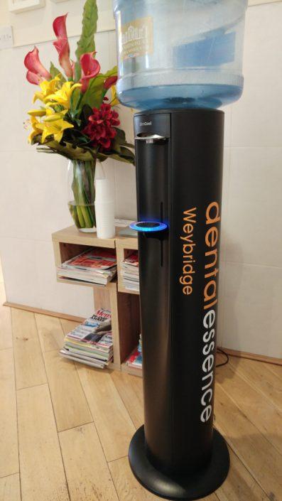 branded water dispenser for dentist.