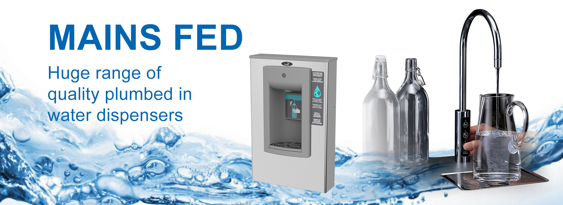 Water Dispensers Bottled Mains Fed For Homes Offices